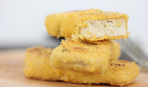 Tofu pané façon poisson pané