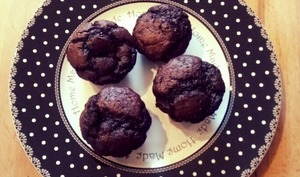 Muffins chocolat courgette