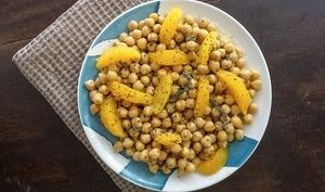 Salade de pois chiches à l'orange
