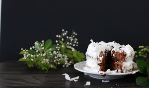 Gâteau à la banane et sa chantilly coco