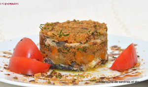 Mille-feuille de sardines et de légumes confits