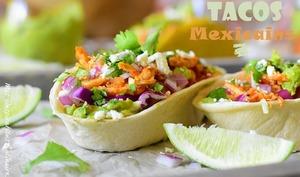 Tacos au poulet et avocat