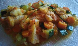 Couscous de poisson et crevettes