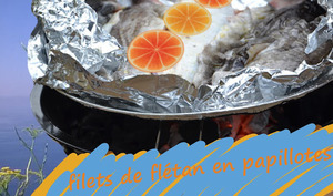 Filets de flétan en papillotes au barbecue