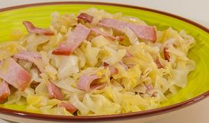 Chou de printemps au bacon