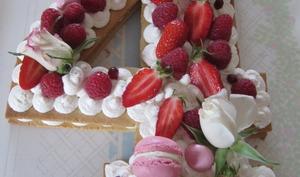 Gâteau en forme de chiffre