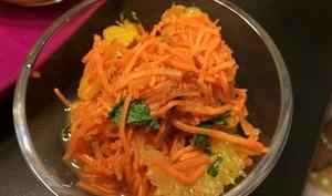 Salade marocaine carottes, oranges et cannelle