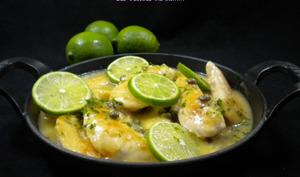 Aiguillettes de poulet au citron vert