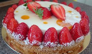 Tarte exotique aux fraises