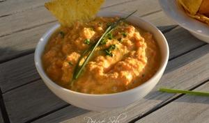 Sauce crue carotte curry au chèvre frais