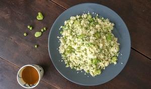 Mesfouf ou le couscous aux petits légumes du printemps
