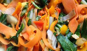 Méli-mélo de blettes, carottes & gingembre