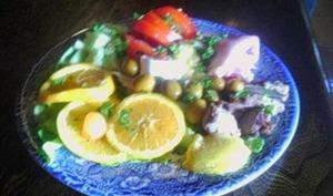 Artichaut, Crevettes et Maquereaux en Salade