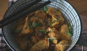 Curry bowl de poulet aux tomates séchées
