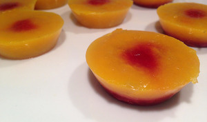 Gourmandise mangues framboises
