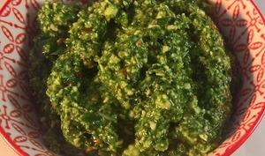 Pesto aux épinard et ail des ours