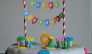 Gâteau d'anniversaire chocolat noisette