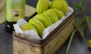 Macarons à l'huile d'olive bio, ganache de chocolat blanc