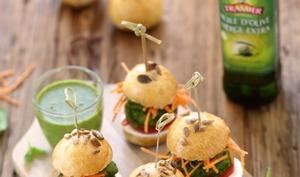 Mini burger végétariens aux petits pois