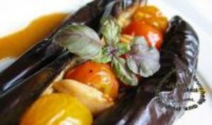 Aubergines Aillées Confites aux Tomates Cerises