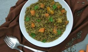 Lentilles épicées aux carottes et poireaux