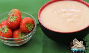 Crème pâtissière aux fraises
