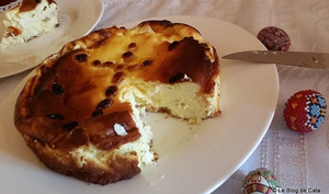 Sernik- gâteau au fromage blanc polonais