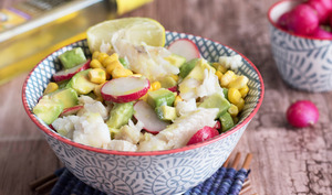 Salade merlan citron curry