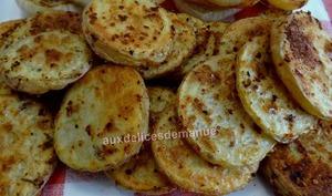 Rondelles de pommes de terre au grill plancha