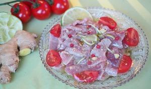 Carpaccio de thon rouge au gingembre