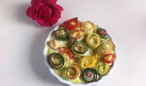 Rouleaux de courgettes jambon cru façon tarte