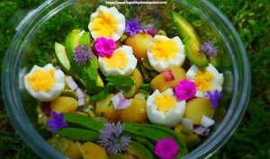 Salade de pommes de terre comme un jardin