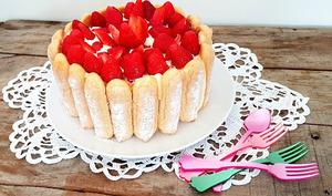 Charlotte fraises, tiramisu et lemon curd
