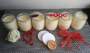Petits pots de crème au citron comme la laitière