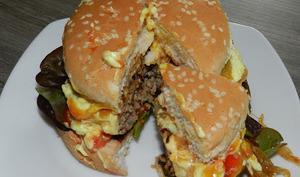 Hamburger maison aux 3 sauces