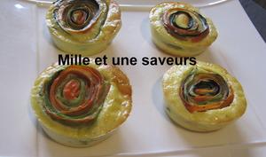 Quiche sans pâte et sa spirale de légume