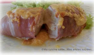 Filets de poulet Mozzarella - jambon cru fumé