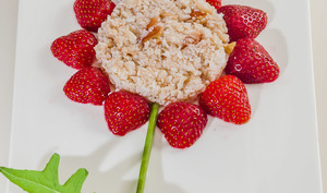 Fleurs de crabe aux fraises