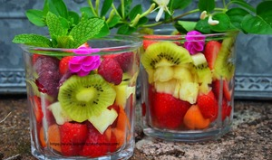 Salade de fruits en bocal