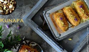 Konafa au fromage ricotta