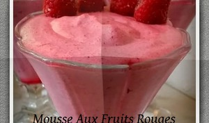 Mousse aux fruits rouge et mascarpone
