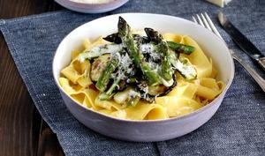 Pappardelles aux légumes verts grillés