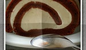 Roulé chocolat et mascarpone
