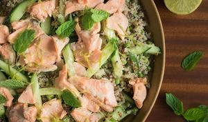 Salade de quinoa au saumon