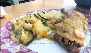 Cuisses de poulet et ses légumes