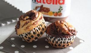 Muffins tourbillons au Nutella®