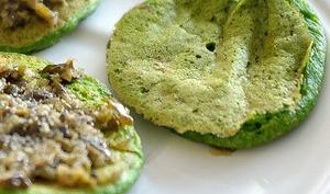 Blinis épinards et lentilles vertes