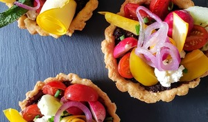 Tartelettes aux légumes crus