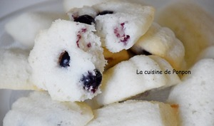 Financier coco et cassis,