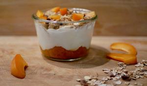Granola de muesli aux abricots